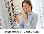 health care  eyesight and... | Shutterstock . vector #758594689