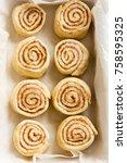 cinnamon rolls or cinnabon ... | Shutterstock . vector #758595325