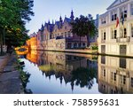 belgium   historical centre of  ... | Shutterstock . vector #758595631