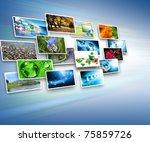 best internet concept of global ... | Shutterstock . vector #75859726