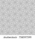 vector vintage art deco... | Shutterstock .eps vector #758597599