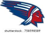 vector indian mascot   Shutterstock .eps vector #758598589