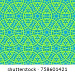 ornamental seamless pattern.... | Shutterstock .eps vector #758601421