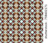 abstract vector geometric... | Shutterstock .eps vector #758602171