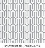 vector seamless pattern. modern ... | Shutterstock .eps vector #758602741