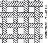 vector seamless pattern.... | Shutterstock .eps vector #758605111