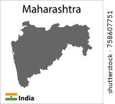 map of the indian city of...   Shutterstock .eps vector #758607751