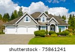 luxury house in vancouver ... | Shutterstock . vector #75861241