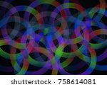 abstract vector background with ... | Shutterstock .eps vector #758614081
