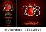 restaurant menu template for... | Shutterstock . vector #758615599