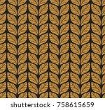 vector illustration of leaves... | Shutterstock .eps vector #758615659
