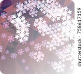 abstract winter background with ... | Shutterstock . vector #758617159