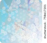abstract winter background with ...   Shutterstock . vector #758617201