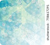 abstract winter background with ...   Shutterstock . vector #758617291