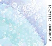 abstract winter background with ...   Shutterstock . vector #758617405