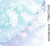 abstract winter background with ... | Shutterstock . vector #758617435