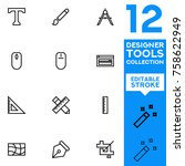 designer tools collection... | Shutterstock .eps vector #758622949