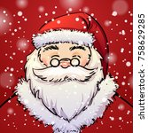vector illustration christmas... | Shutterstock .eps vector #758629285