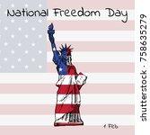 national freedom day. lettering ...   Shutterstock .eps vector #758635279