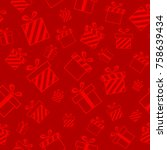 christmas seamless pattern with ... | Shutterstock . vector #758639434