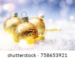 christmas and new year holidays ... | Shutterstock . vector #758653921