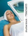 caucasian woman relaxing in a... | Shutterstock . vector #758656855