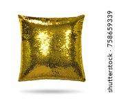 fashion pillow isolated on... | Shutterstock . vector #758659339
