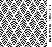 seamless geometric diamonds... | Shutterstock .eps vector #758664691