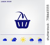 vector shopping basket icon | Shutterstock .eps vector #758665555