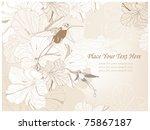 background with colibri birds   Shutterstock .eps vector #75867187