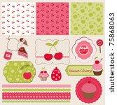 cherry design elements for... | Shutterstock .eps vector #75868063