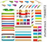 corners and ribbons  isolated... | Shutterstock .eps vector #75868072