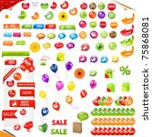 big collection of sale elements ...   Shutterstock .eps vector #75868081