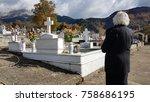 Graves Crosses In Greek Church...