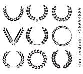vector laurel wreath. | Shutterstock .eps vector #758694889