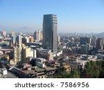 santiago de chile from santa... | Shutterstock . vector #7586956