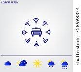 wifi in car icon   Shutterstock .eps vector #758698324