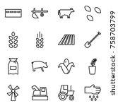 thin line icon set   bunker ...   Shutterstock .eps vector #758703799
