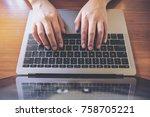 top view image of business... | Shutterstock . vector #758705221