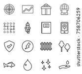 thin line icon set   target ... | Shutterstock .eps vector #758706259
