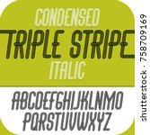 vector capital modern alphabet... | Shutterstock .eps vector #758709169
