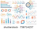 infographic elements   bar and... | Shutterstock .eps vector #758714257