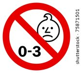 age warning sign | Shutterstock . vector #75871501