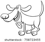 black and white cartoon vector... | Shutterstock .eps vector #758723455