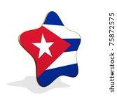 Cuba flag STAR BANNER - stock photo
