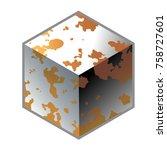 rusty metal icon | Shutterstock .eps vector #758727601