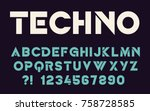 geometric technology font... | Shutterstock .eps vector #758728585