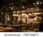 Stock photo blurred background of restaurant with abstract bokeh light 758736871
