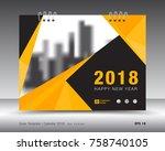 cover calendar 2018 template....   Shutterstock .eps vector #758740105
