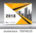 cover calendar 2018 template.... | Shutterstock .eps vector #758740135